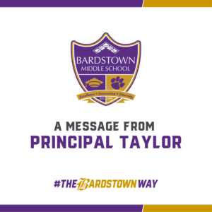 A Message from Principal Taylor Graphic